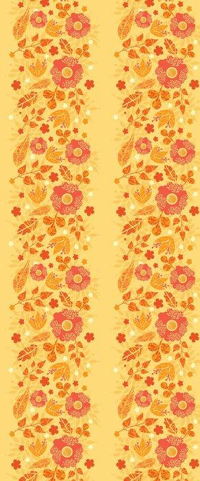 Tapeta Pixerstick Vektorové zářivé požární květiny zlatá vertikální bezešvé vzor - Květiny