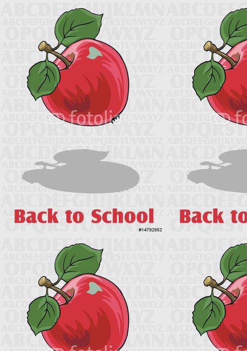 Tapeta Pixerstick Vektorové Zpátky do školy pozadí s abecedou - Životní styl