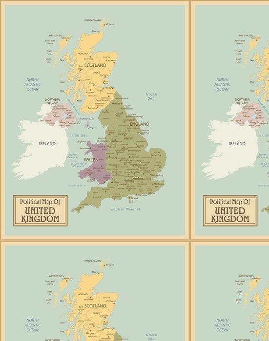 Vinylová Tapeta Velká Británie-vysoce detailní map.Layers používané. - Témata