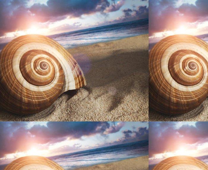 Vinylová Tapeta Velké mušle v písku - Prázdniny