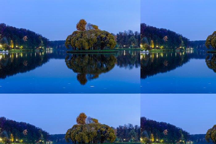 Vinylová Tapeta Velký rybník v parku na podzim - Roční období