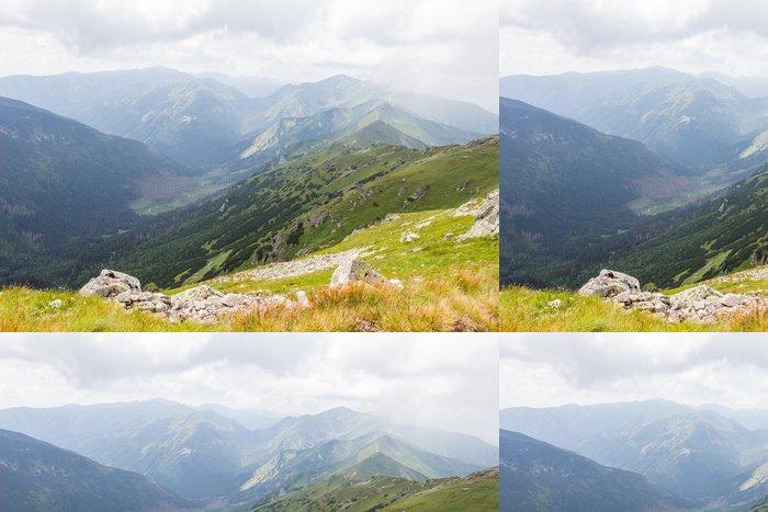 Tapeta Pixerstick Velmi pěkný výhled na horách - Hory