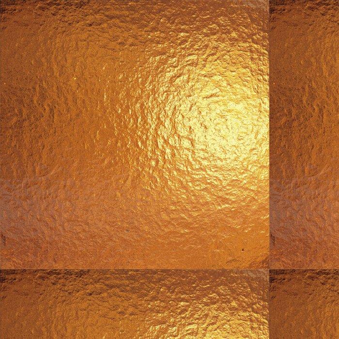 Tapeta Pixerstick Velmi velký list z jemného zlata plisované hliníkovou fólií - Struktury