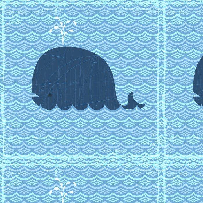 Tapeta Pixerstick Velryba - Vodní a mořský život