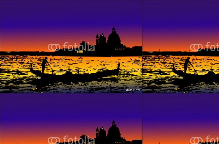 Tapeta Pixerstick Venezia v noci - Evropská města