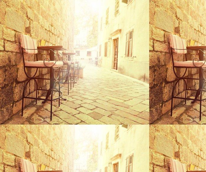Tapeta Pixerstick Venkovní kavárna - Obchody