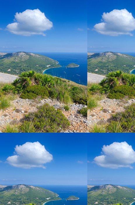 Tapeta Pixerstick Vertikální krajina Formentor mysu - Evropa