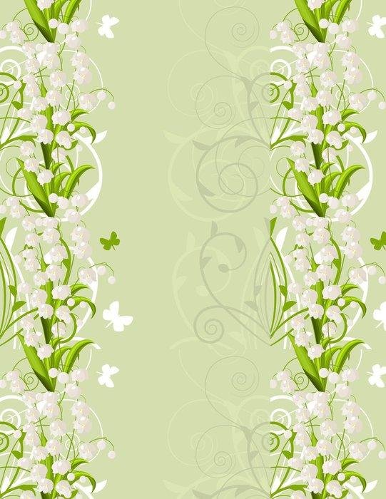 Tapeta Pixerstick Vertikální růžový jarní pozadí s tulipány a mávání - Pozadí