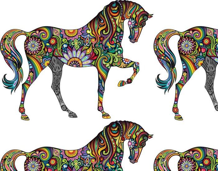 Tapeta Pixerstick Veselý kůň - Nálepka na stěny
