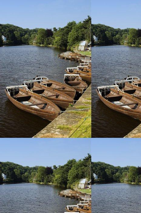 Tapeta Pixerstick Veslařské čluny - Voda
