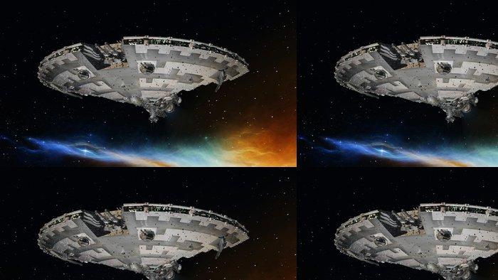Tapeta Pixerstick Vesmír loď - Témata