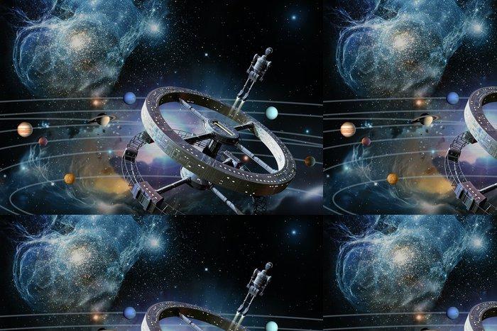 Vinylová Tapeta Vesmírná stanice - Meziplanetární prostor