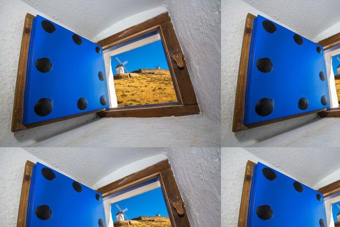 Vinylová Tapeta Větrné mlýny Consuegra - La Mancha, Španělsko - Památky