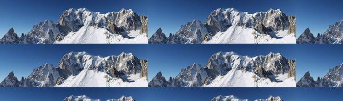 Vinylová Tapeta Vetta del Monte Bianco - Zimní sporty