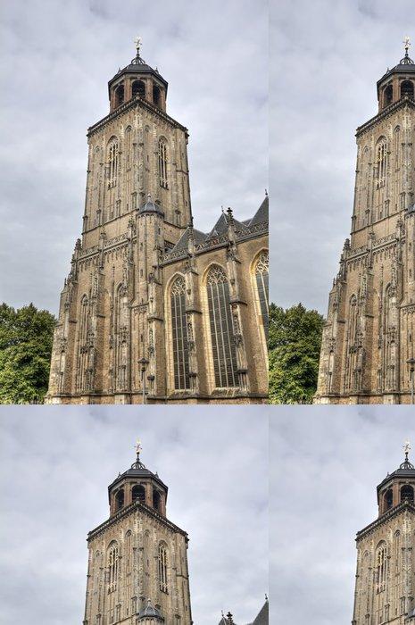 Tapeta Pixerstick Věž kostela z Deventer, Holandsko - Evropa
