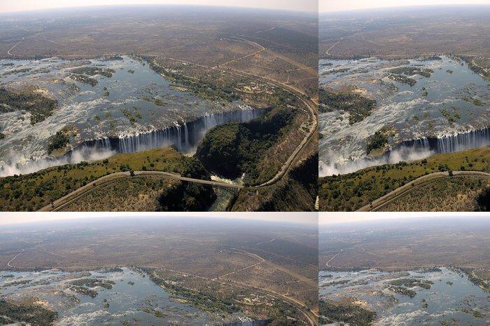 Tapeta Pixerstick Victoria Falls pohled z nebe - Afrika