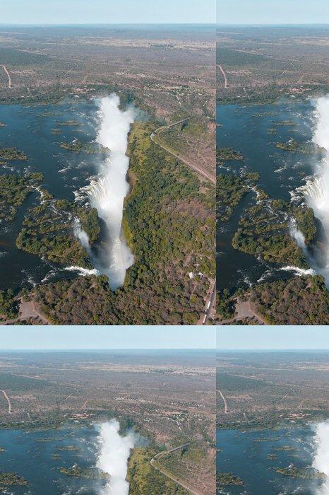 Tapeta Pixerstick Victoria Falls vrtulník letecký pohled - Afrika