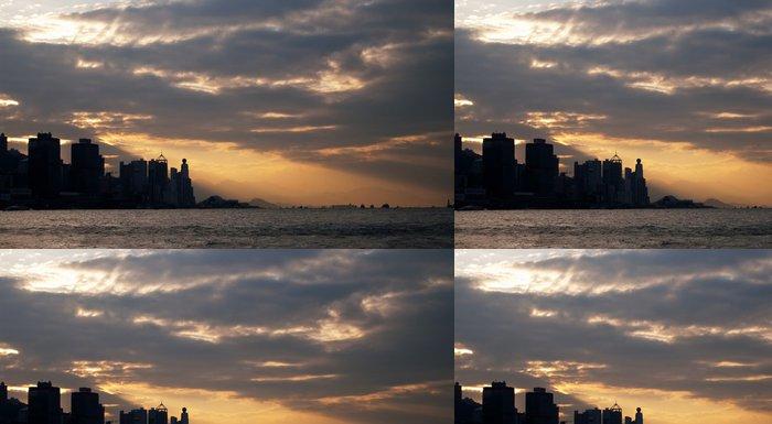 Tapeta Pixerstick Victoria Harbour Sunset - Asie