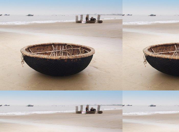 Tapeta Pixerstick Vietnam člun na pláži v Danang, Vietnam. - Doplňky a věci