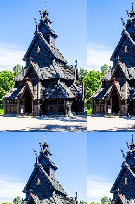 Tapeta Pixerstick Viking kostel - Evropa