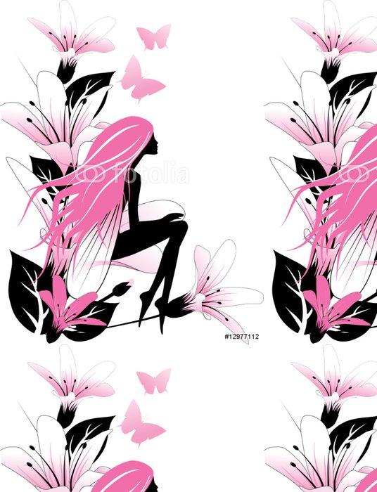 Tapeta Pixerstick Víla s květinami - Nálepka na stěny