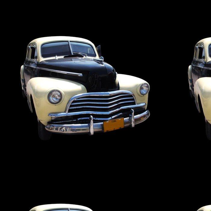 Tapeta Pixerstick Vinobraní klasické americké auto na černém - Na cestě