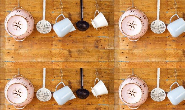 Vinylová Tapeta Vinobraní kuchyňské nádobí, vaření koncept, kopírování bez místa - Témata