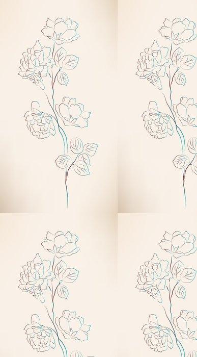 Vinylová Tapeta Vinobraní skica - Květiny