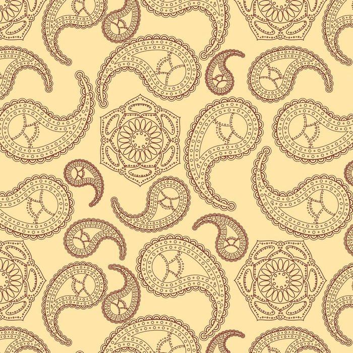 Tapeta Pixerstick Vintage bezešvé paisley pattern - Styly