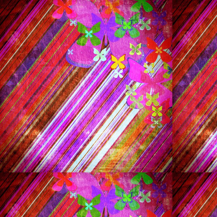 Vinylová Tapeta Vintage Butterfly - Struktury