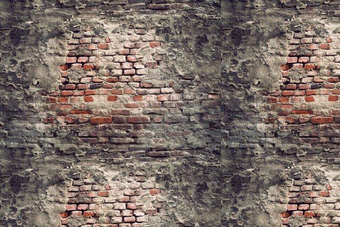 Tapeta Pixerstick Vintage Cihlová zeď - Struktury