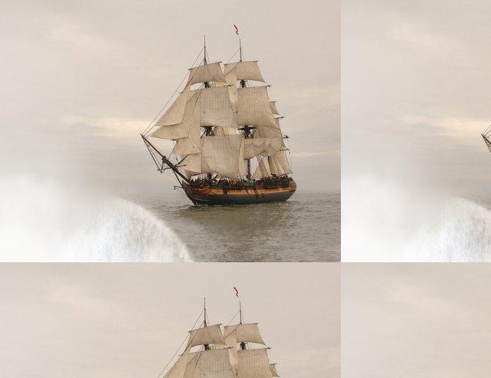 Tapeta Pixerstick Vintage fregata chvíli spadne na okraj země - Styly