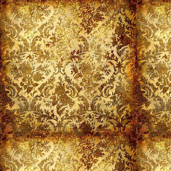 Tapeta Pixerstick Vintage grunge pozadí se zlatými vzory - Témata