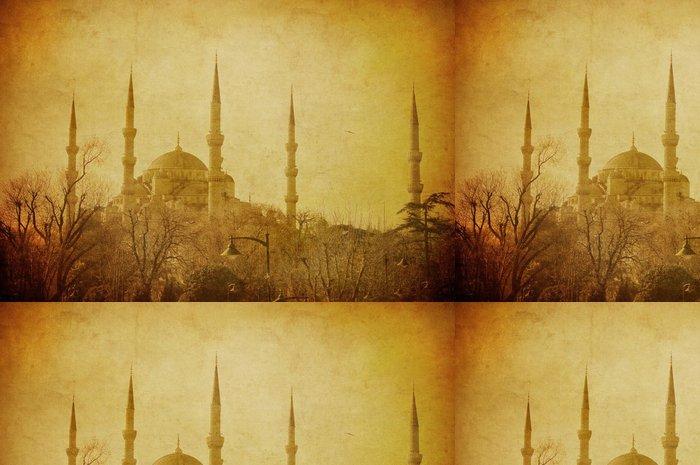 Tapeta Pixerstick Vintage image of Blue Mosque, Istanbul - Střední Východ
