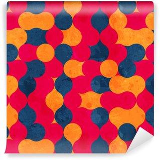 Vinylová Tapeta Vintage kruh bezešvé textury s grunge efekt