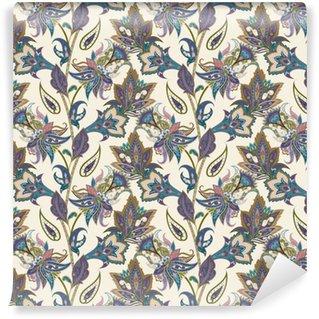 Vinylová Tapeta Vintage květinové a Paisley bezešvé vzor, orientální pozadí