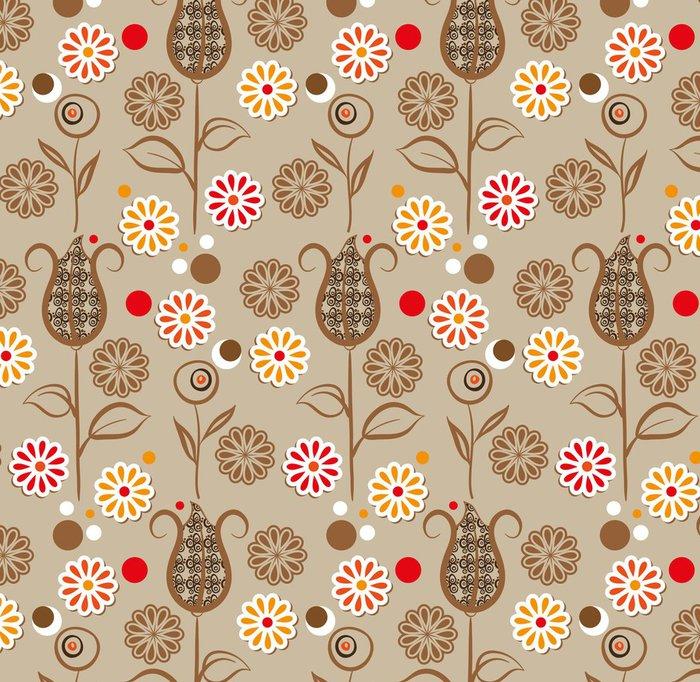 Tapeta Pixerstick Vintage květiny bezešvé vzor - Styly