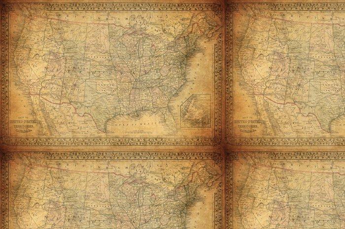 Tapeta Pixerstick Vintage mapa Spojených států 1867 - Styly