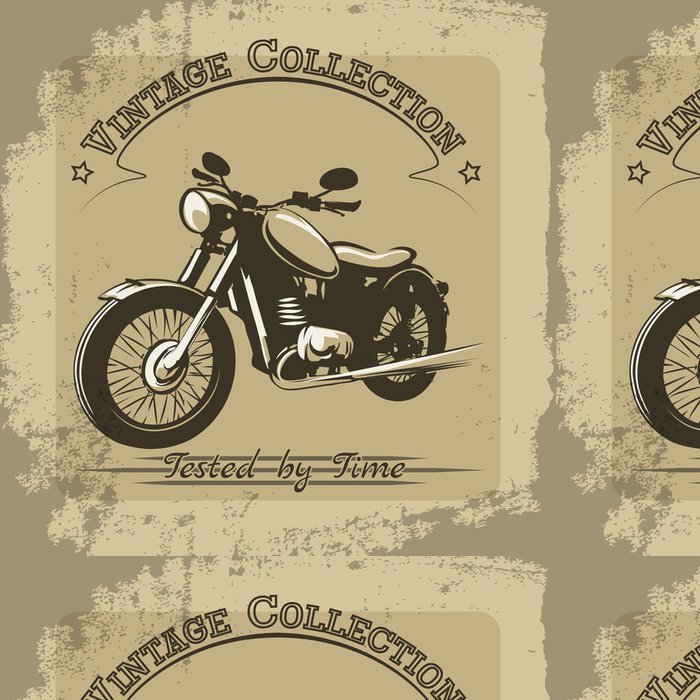 Tapeta Pixerstick Vintage motocykl plakát - Styly