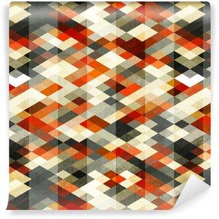 Vinylová Tapeta Vintage red kosočtverec bezešvé vzor