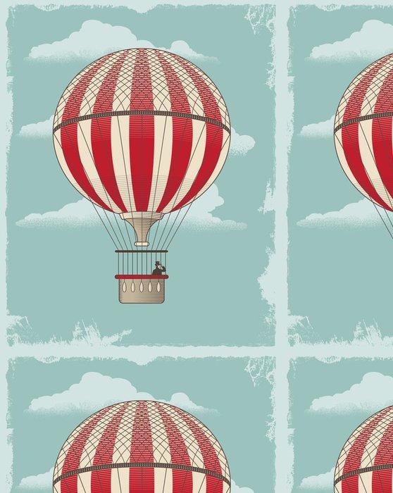 Tapeta Pixerstick Vintage retro horkovzdušný balón - vektorové design -