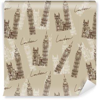 Vinylová Tapeta Vintage stylu vzor s velkou ben (Elizabeth věž), london, en