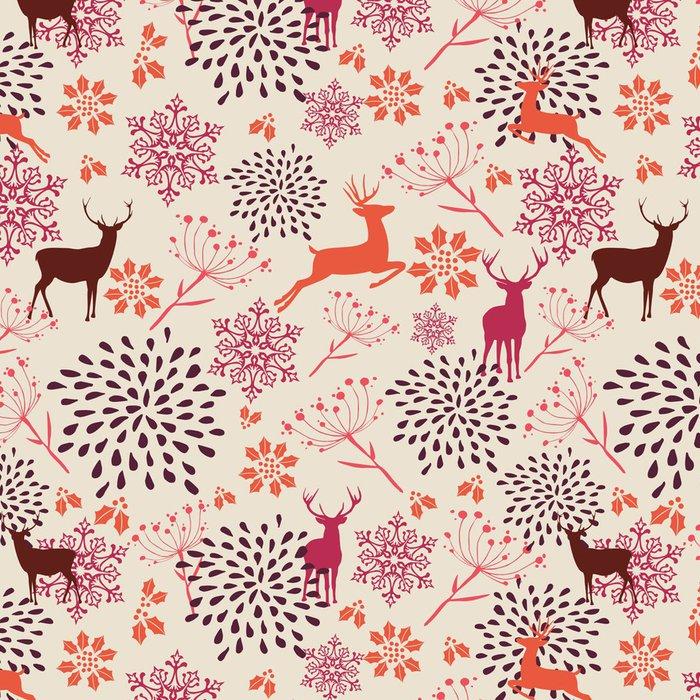 Tapeta Pixerstick Vintage vánoční prvky bezešvé vzor na pozadí. EPS10 fi - Mezinárodní svátky