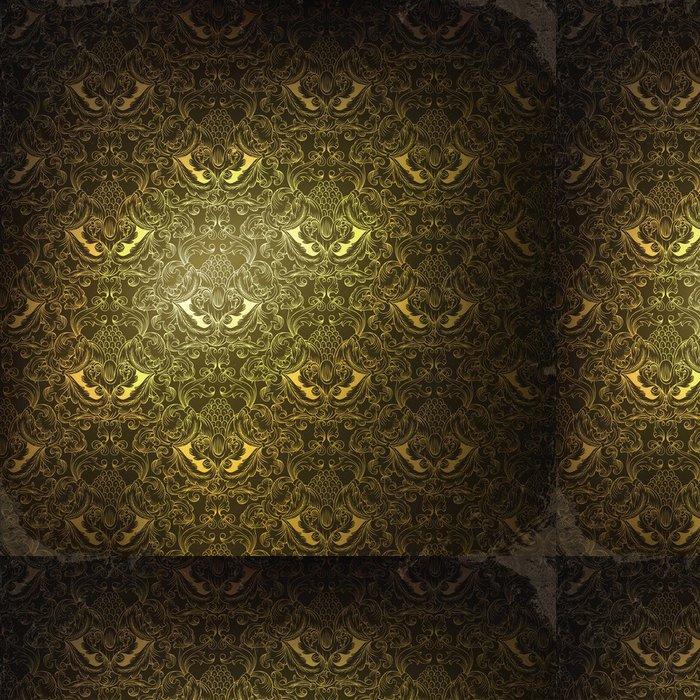 Tapeta Pixerstick Vintage zlaté zdobené pozadí, raster verze - Pozadí