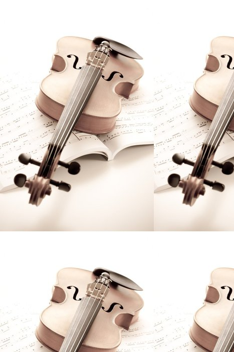 Vinylová Tapeta Violine - Hudba