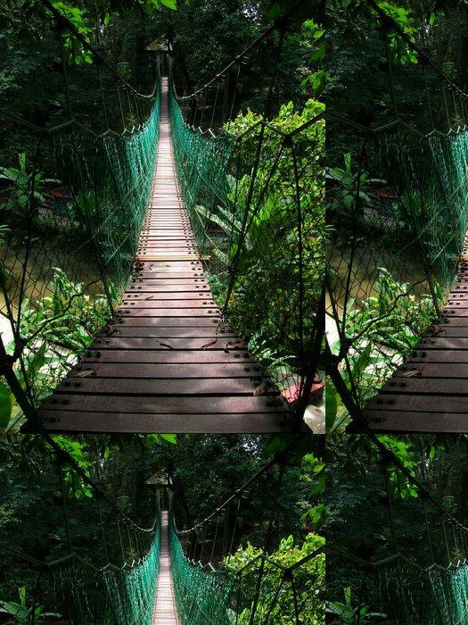 Vinylová Tapeta Visutý most v tropické džungli - Témata