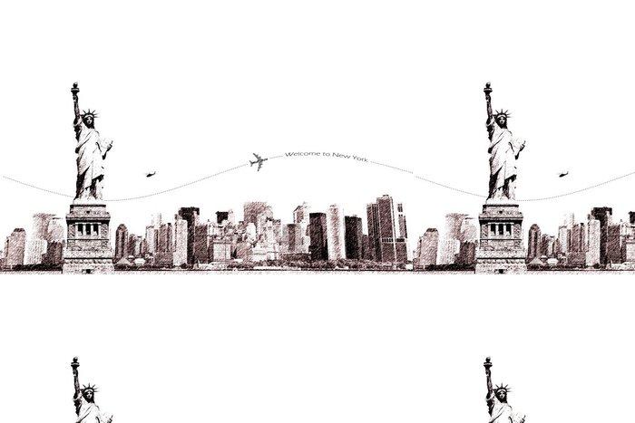Tapeta Pixerstick Vítejte v New Yorku - Nálepka na stěny