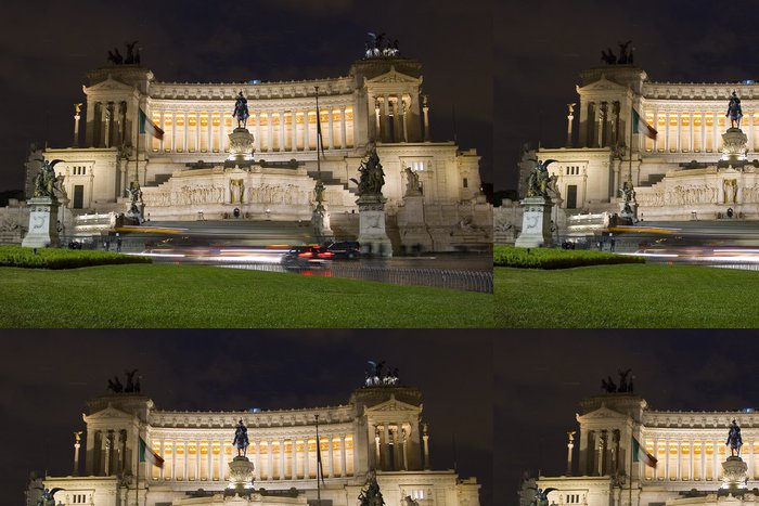 Tapeta Pixerstick Vittoriano v noci, Řím - Evropská města