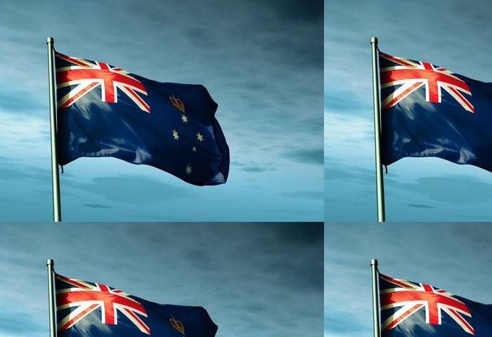 Vinylová Tapeta Vlajka australského státu Victoria - Oceánie
