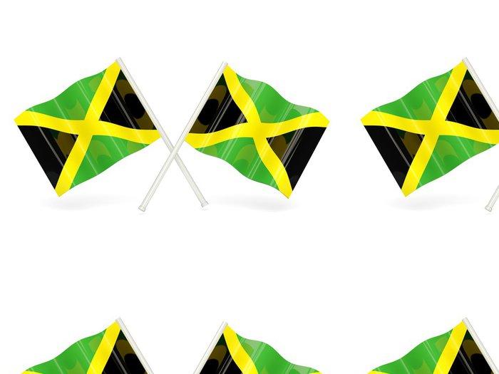 Tapeta Pixerstick Vlajka Jamajky - Značky a symboly